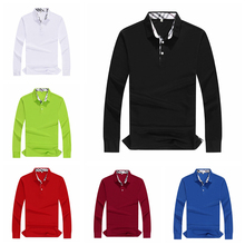 Autumn Fashion Polo Shirt Women Fall New Casual Long Sleeve Slim Solid Lady Shirts Tops Plus Size Group service customization