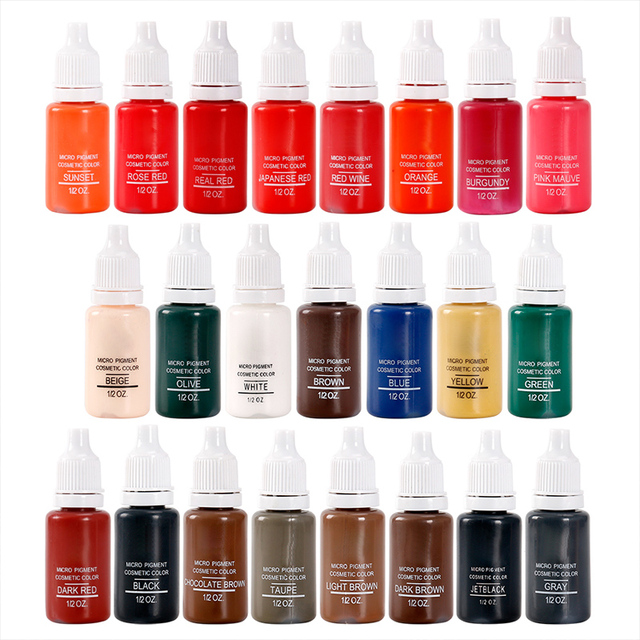 8Colors Tattoo Ink microblading Pigment for Semi Permanent Makeup Eyebrow Ink Lips Eye Line Tattoo Color Natural Plant 2