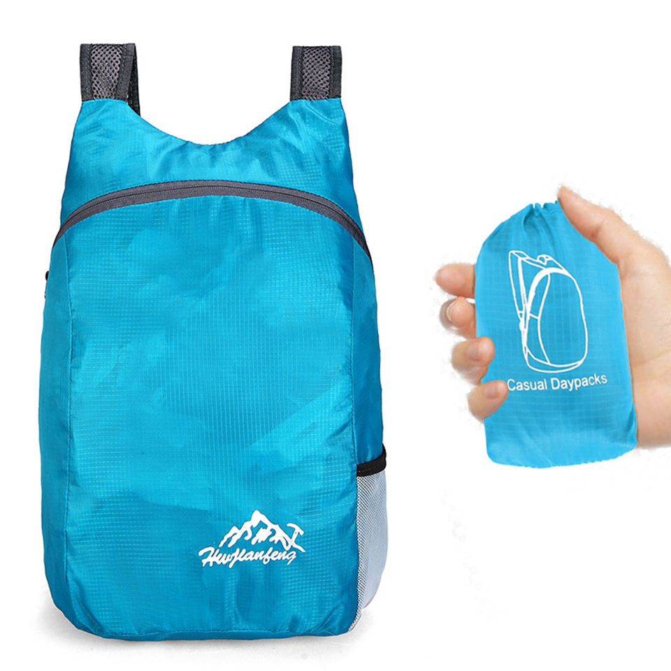 Lightweight Portable Foldable Backpack Waterproof Backpack Folding Bag Ultralight Outdoor Pack For Women Men Travel Hiking 20L