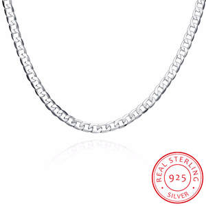 Silver Jewelry Necklaces Link-Chain 925-Sterling-Silver 6MM Men 16inch-24inch