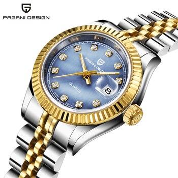 PAGANI DESIGN Top Luxury Brand Women Watches Ladies Wrist Watch Stainless Steel Classic Girl Female Clock Relogio Feminino