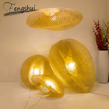 Modern Bamboo Lamp Art Pendant Lights Indoor Lighting Restaurant Hotel Rattan Pendant Lamp for Living Room Kitchen Hanging Lamps free shipping modern bamboo work hand knitted bamboo pendant lamp good price pendant lamp with bamboo shades for dinning room