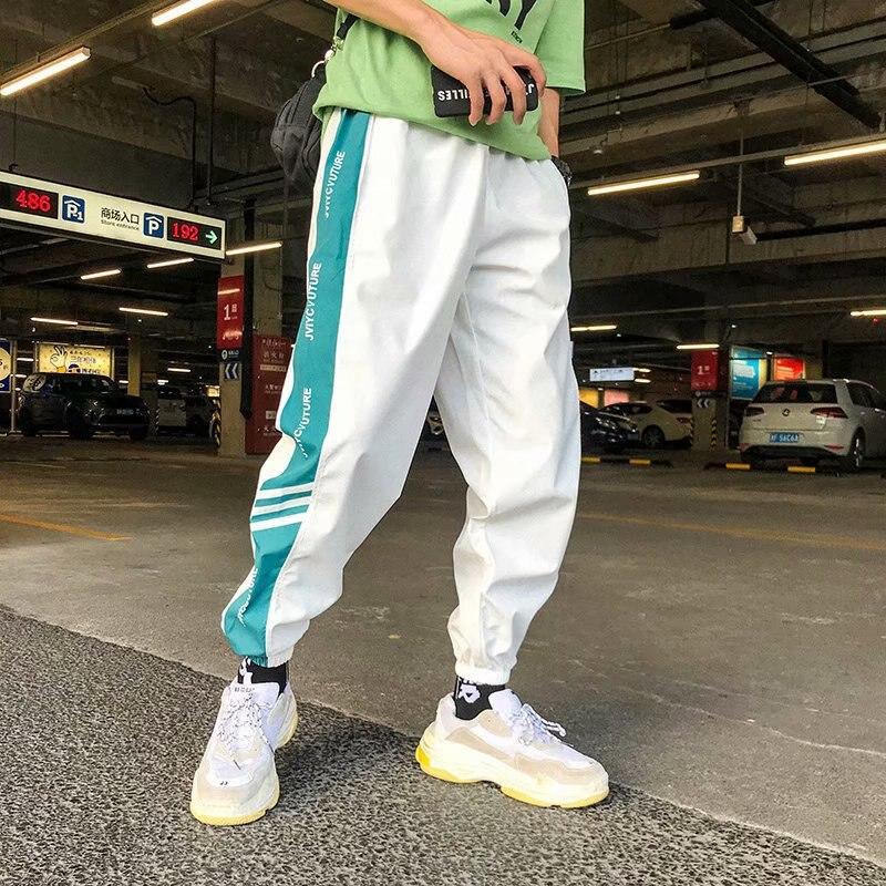 MEN'S Casual Pants Korean-style Loose-Fit Beam Leg Capri Pants Summer Versatile Sports Skinny Harem Pants Fashion Cheap