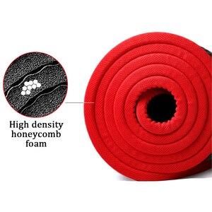 Image 5 - Jusenda esterilla de Yoga NBR, 10MM, 183x61cm, almohadillas deportivas para Pilates, borde para alfombras, resistente a las roturas, mate con bolsa y correa