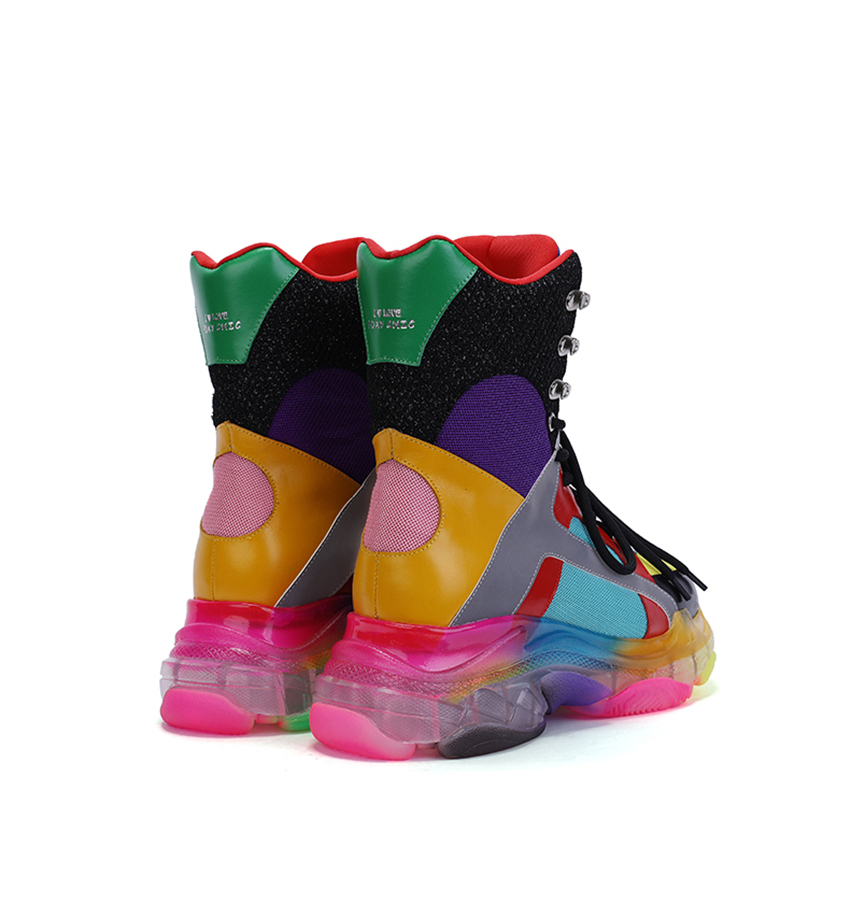 Colorful High Top Sneakers 6