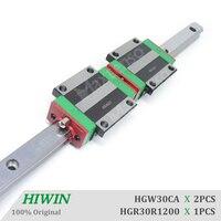 HGW30CA CC Guide Lineari HIWIN 1200 millimetri Flangia Blocchi di Trasporto Lineare Binario di Guida HGR30 Parti di CNC di Alta Precisione di Carico Pesante|Guide lineari|Miglioramento della casa -