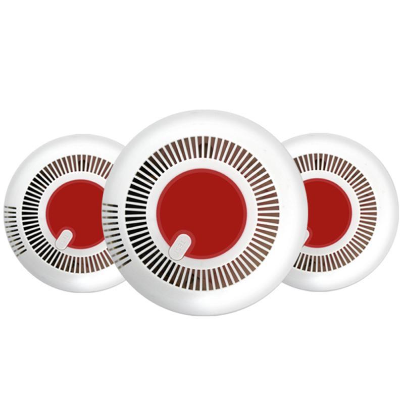 2019 New Stable Standalone Smoke Detector Sensor Smoke Alarm Red Flashing Light High Decibel Home Security Alarm