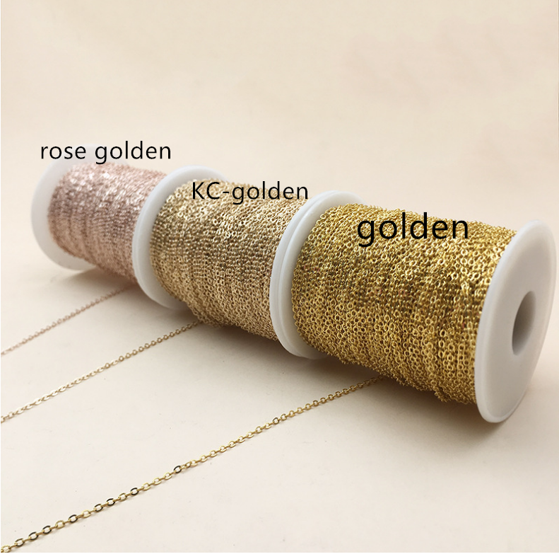 2mm 5meter Jewelry Chain Clothing Accessories Accessories O-chain Fine Chain Gold Silver Spot