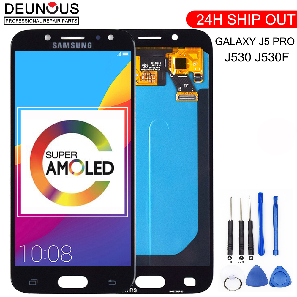Super AMOLED LCD For <font><b>SAMSUNG</b></font> <font><b>Galaxy</b></font> <font><b>J5</b></font> Pro <font><b>2017</b></font> J530 J530F J530FM SM-J530F J530G/DS LCD <font><b>Display</b></font> Touch Screen Digitizer Assembly image