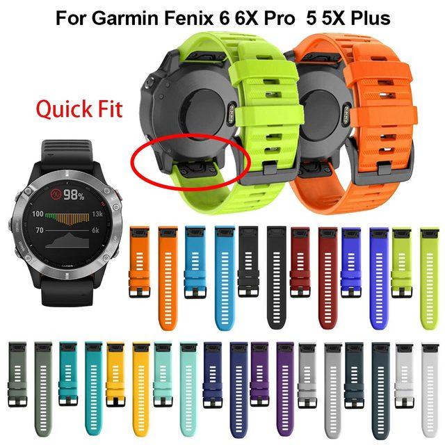 26, 22, 20 мм, ремешок для смарт часов Garmin Fenix 6X 6 6s Pro 5S плюс 935 3 HR часы, быстросъемный силиконовый легко регулируемый ремешок для наручных часов