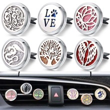 New Wholesale Car Air Diffuser Stainless Steel Vent Freshener Car Essential Oil Diffuser Perfume Aroma necklace Open Locket new 12 constellations stainless steel car air freshener diffuser perfume locket pendant necklace zodiac jewelry dropshipping