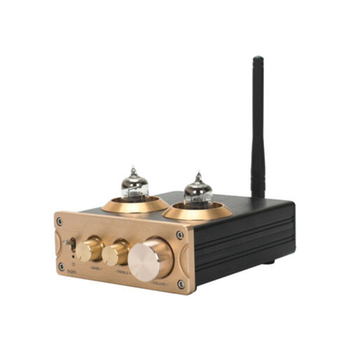 ABGN Hot-Bluetooth 5.0 QCC3008 APTX HiFi 6J1 Tube Tone Preamp Amplifier Stereo Preamplifier with Treble Bass Control for Home So