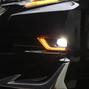 Image 5 - LED Front Fog Lamp Daytime Running Light Turning light 3 function For Toyota Land Cruiser Prado 150 FJ150 2018 2019 Accessories
