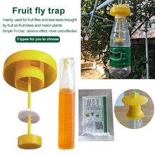 Basit meyve sinek tuzak Killer haşere kontrolü bahçe ev pratik granül tozu Drosophila Catcher böcek cezbedici meyve bahçesi