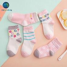 10 шт/партия Детские хлопковые носки с цветами