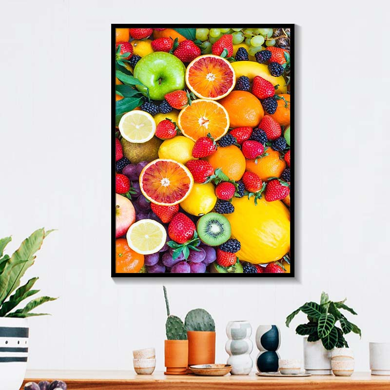Canvas Paintings Printed Modular Nordic Minimalist HD Wall Art Vegetable Fruits Home Decor Pictures Healthy Food Kitchen Posters