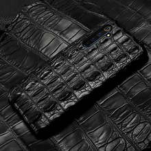 LANGSIDI Luxury Crocodile phone case For Realme 6 pro X2 Pro Shockproof back cover OPPO Reno 3 Ace A9 A5 Genuine leather