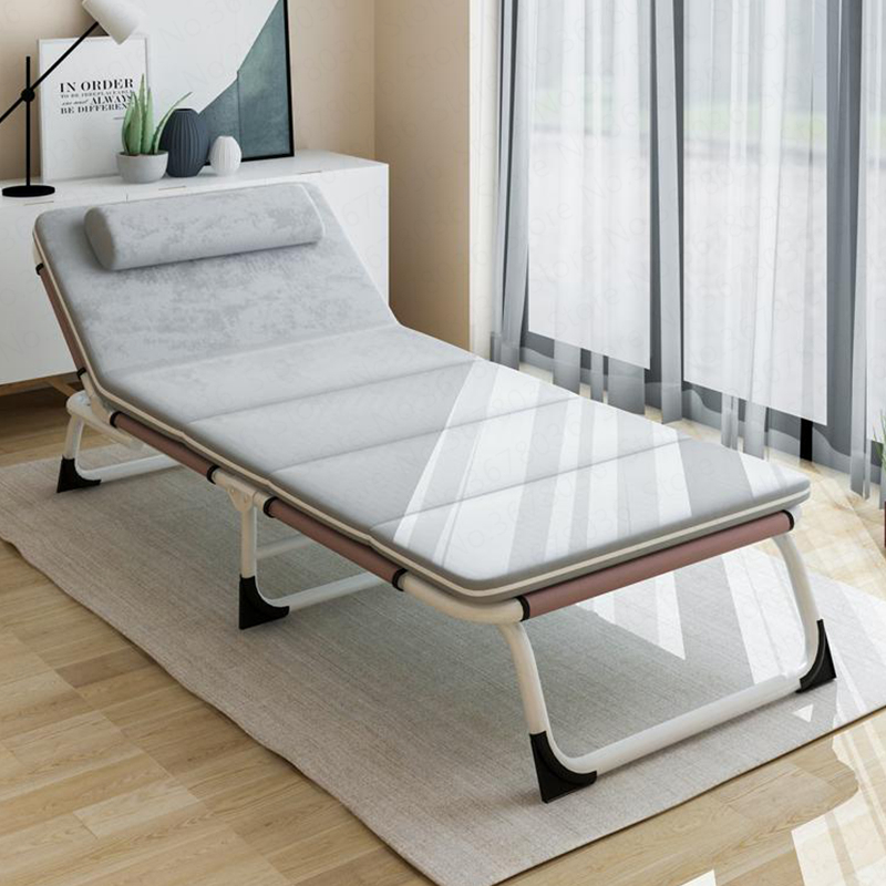 Multifunctional Folding Bed Single Bed Home Adult Lunch Bed Siesta Lounge Office Simple Bed Marching Care