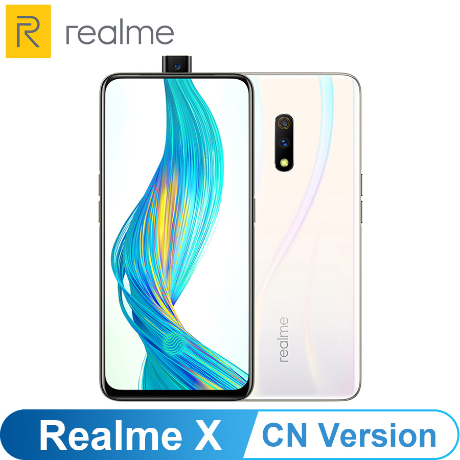"""CN Version OPPO Realme X 6.53"""" Android 9.0 2340X1080 4/6/8GB 64/128GB ROM 48.0MP Fingerprint Snapdragon 710 4G LTE Mobile Phone"""