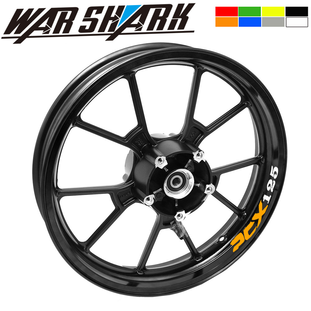 Motorcycle Styling Wheel Hub Tire Reflective Sticker Car Decorative Stripe Decal For HONDA PCX 125/150 PCX125 PCX150 All Years
