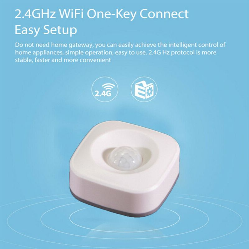 WiFi Smart Home PIR Motion Sensor Wireless Infrared Detector Security Burglar Alarm System For Home Office Use Supplies D08B