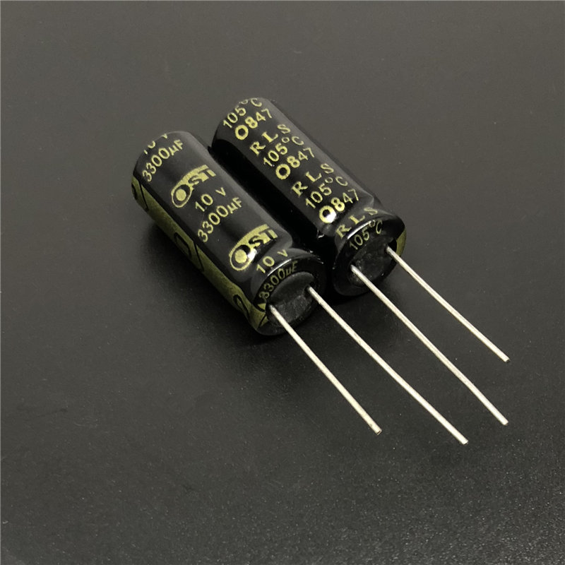 10pcs 3300uF 10V OST RLS 10x25mm Long Life Low ESR 10V3300uF Motherboard Aluminum Electrolytic Capacitor