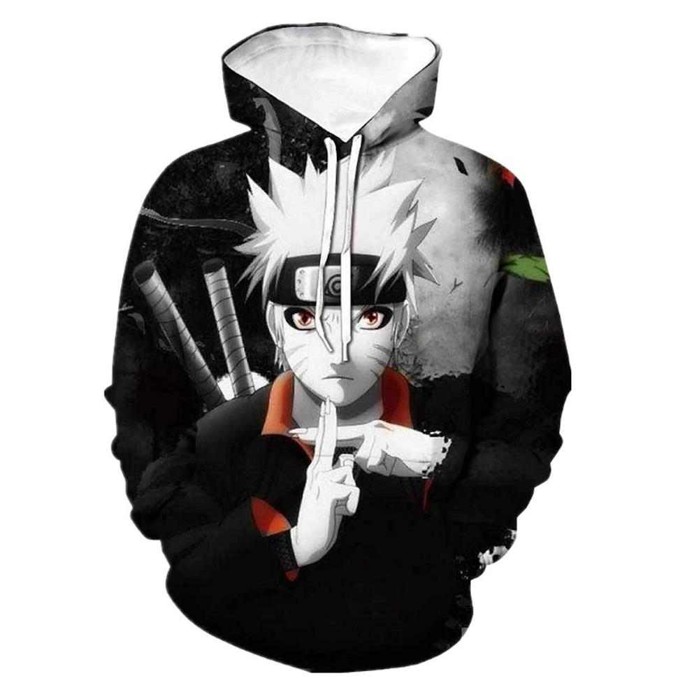 Anime Naruto Sasuke Kakashi Men Women Hoodies 3D Print Hooded Pullovers Casual Tracksuits Sweatshirts Fashion Teens Streetwear