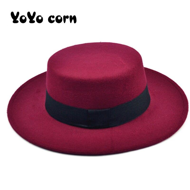 Winter Autumn Imitation Woolen Women Men Ladies Fedoras Top Jazz Hat European American Round Caps Bowler Hats Feminino Gorra Cap