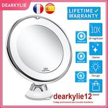 Make-up Eitelkeit Spiegel Mit 10X Lichter LED Vergrößerungs Spiegel Kosmetik Spiegel Licht Vergrößerung LED bilden Spiegel Grossissant