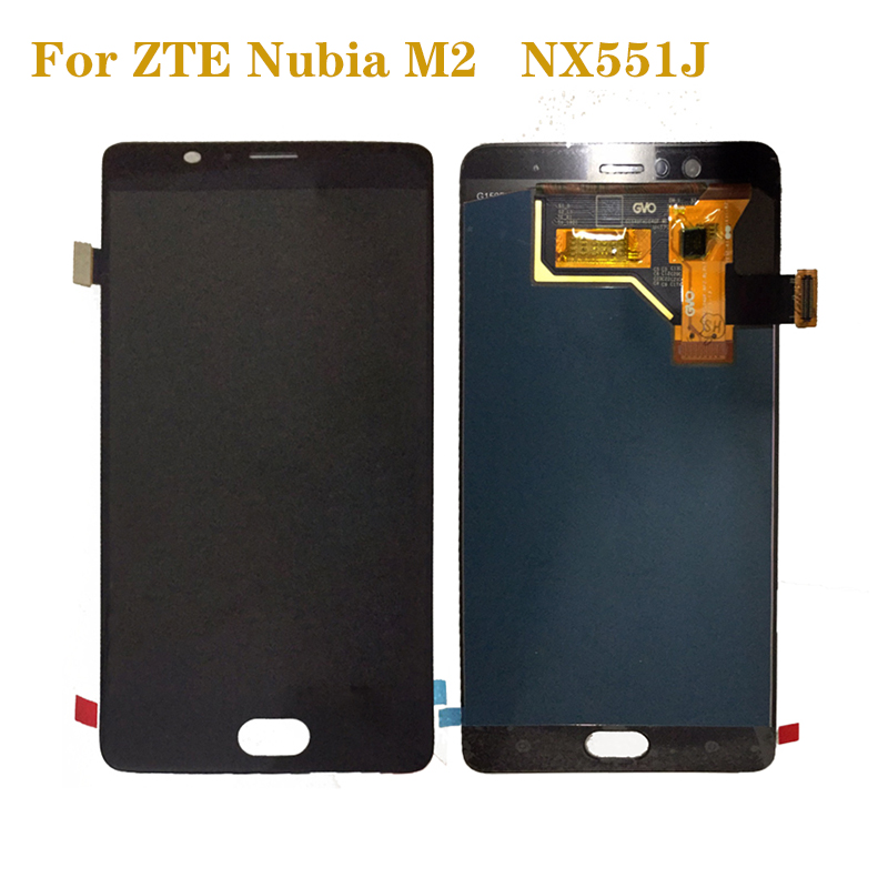for ZTE Nubia M2 <font><b>NX551J</b></font> AMOLED LCD display touch screen digitizer assembly for ZTE Nubia M 2 display repair parts image