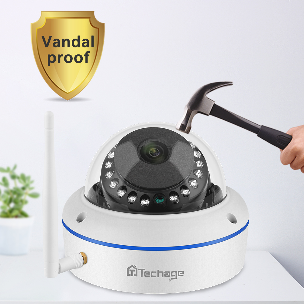 Techage 4CH 1080P Wireless NVR Kit CCTV Sicherheit System Audio Record 2,0 MP Indoor Dome WiFi IP Kamera P2P video Überwachung Set