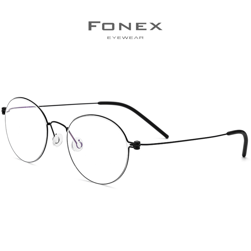 Image 3 - FONEX B Titanium Glasses Frame Women Prescription Eyeglasses Men 2019 New Korean Myopia Optical Frames Screwless Eyewear 7510-in Women's Eyewear Frames from Apparel Accessories