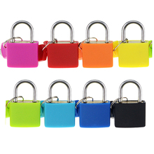 Mini Strong Steel Padlock Travel Suitcase Diary Lock With 2 Keys 8 colors