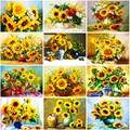 DIY Sunflower 5D Diamond Painting Full Round/Square Rhinestone Mosaic Diamante Embroidery Cross Stitch Wall Art Home Best Gift
