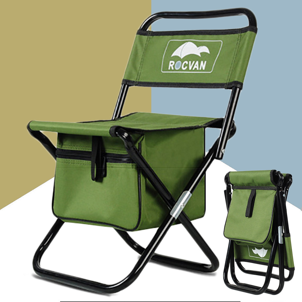 Hiking Foldable Fishing Chair Backrest Backpack Metal Tube Portable Fishing Equipment Fishing Bag&Chair Ultralight Camp Chair