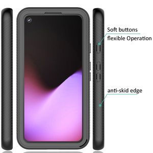 Image 2 - Combo Valweerstand Rugged Case Voor Google Pixel 5 Defender Armor Shield Anti Skid Crystal Clear Cover