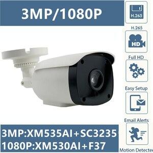 Image 1 - 3MP 2MP IP balle caméra 6 rangée led IRC XM535AI + SC3235 2304*1296 1080P IRC ONVIF CMS XMEYE RTSP détection de mouvement P2P nuage