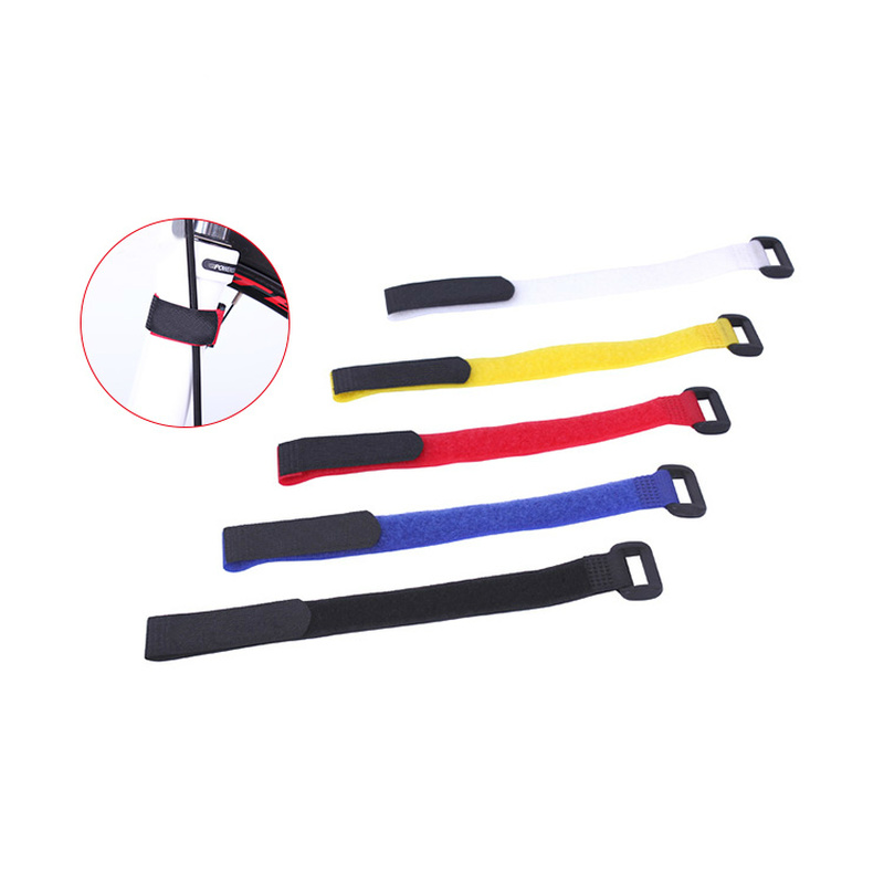 2pcs Multifunctional Bicycle Fixing Strap Magic Adjustable Adhesive Bandage To Fix Bike Inflator MTB Bike Accessories Supplies