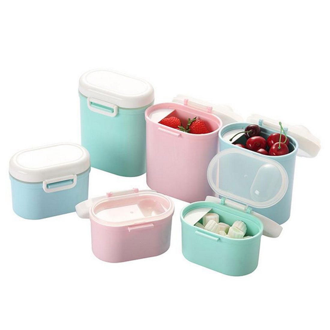 Baby Food Storage Milk powder Storage Formula Dispenser Travel Sealed Container Baby food Tank Snack Box PP Plastic in Baby Food Storage from Mother Kids