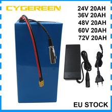 24V 36 V 48 V 60 V 72 V 20AH akumulator litowy Ebike XT60 500W 36 V 10S 48 V 13S 60 V 72 V 1000W akumulator litowo-jonowy Batterie Akku tanie i dobre opinie CYGEREEN CN (pochodzenie) 10-20ah 24 v Bateria litowa 24V 36V 48V PVC battery 3 7V 2600mah 18650 Cell can be customized