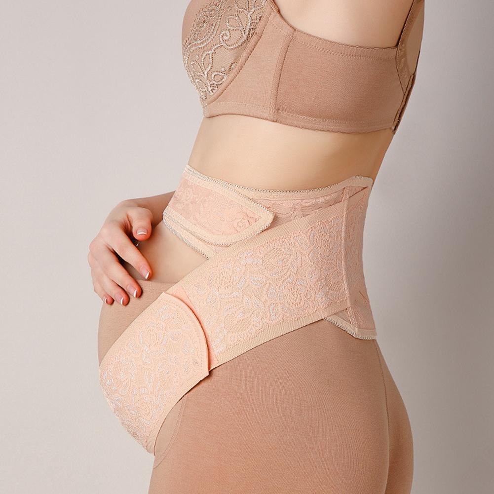 Pink And Skin Color Breathable Maternity Belt Band Adjustable Abdominal Binder Pelvic Support Strap New
