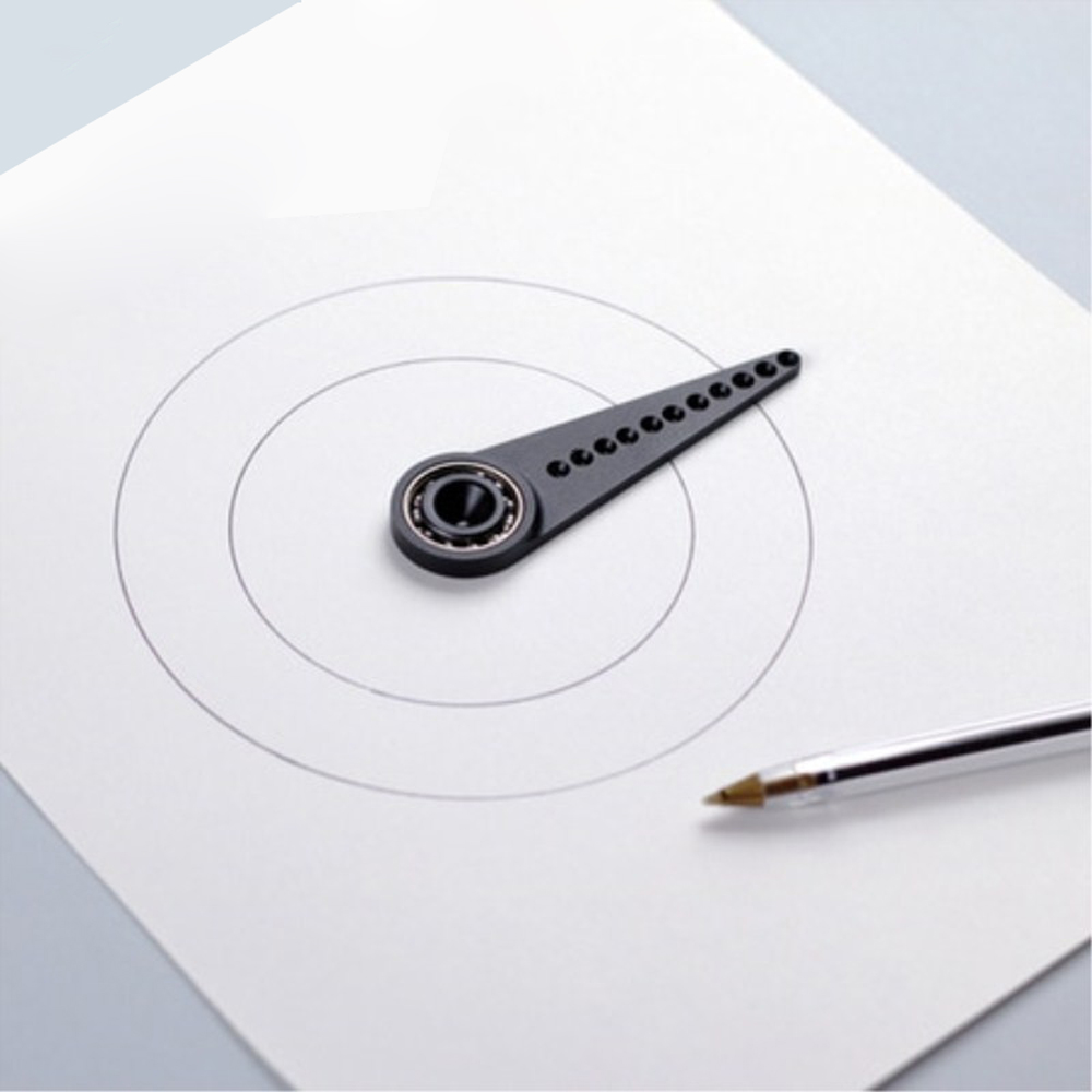 Drawing Circle Ruler Multi-function Compass Drawing Tool Metal Woodworking Diameter 4-14cm Without Leaving Hole