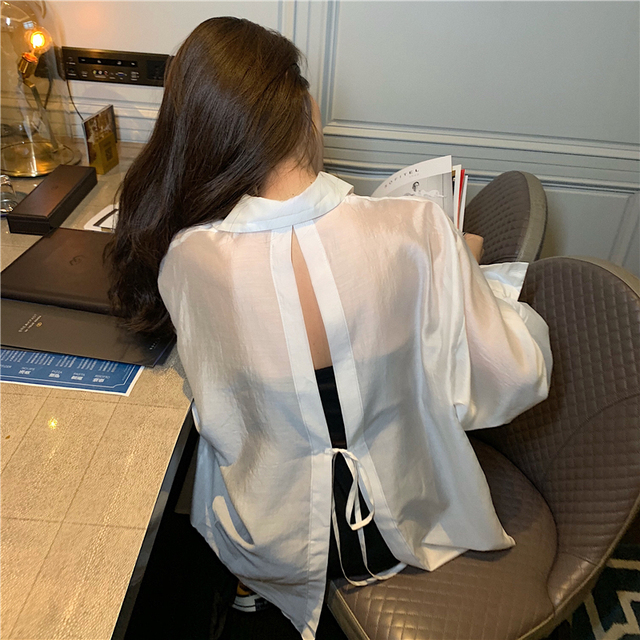 New  Blouse  Women Shirt   Long-sleeved thin section Tops   Ladies BL055 5
