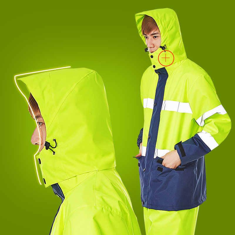 Hohe Sichtbarkeit Radfahren männer Windjacke Wasserdichte Leichte Sicherheits Jacke Regenmantel Motorrad Bike Tuch Reflektierende Verkehrs