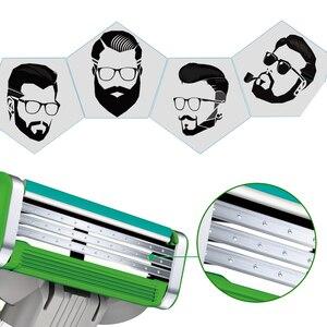 Image 5 - Gillette mach 3 potência sensível lâmina de barbear lâminas para homens barbear 4 lâminas clipper cabelo segurança lâminas substituição cabeças