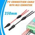 250mm GÜNEŞ PANELI terminali bağlantı kablosu erkek dişi Y şube MCX konnektörü ile kullanılabilir PowMr MPPT güneş şarj kontrol cihazı