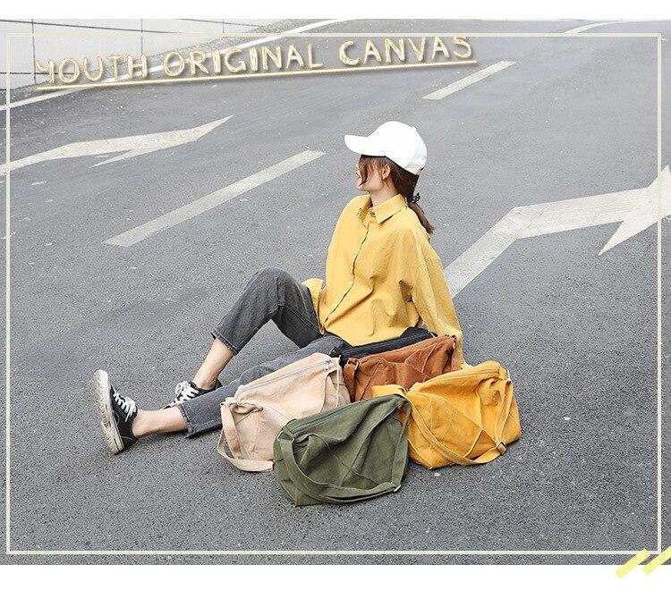 mulheres lona cor sólida casual ombro saco