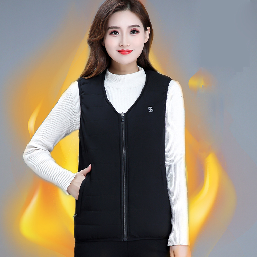 Snowboarding Heating Vest USB Charging Heating Vest Intelligent Electric Heating Vest Heating Clothes Submersible Silk Floss