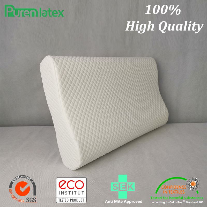 PurenLatex 14 Cm High Memory Foam Contour Orthopedic Pillow Neck Cervical Vertebra Support Neck Care Bedding Pillow Slow Rebound