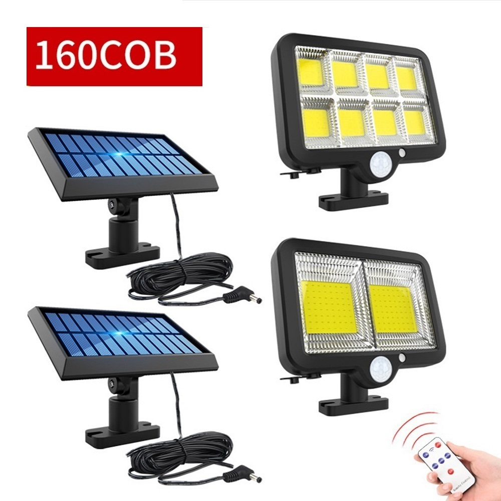 Permalink to 128/160 COB Solar Powered Light Outdoor Motion Sensor Wall Light Waterproof Garden Lamp Spotlights For Garden 3 Modes LED Lights